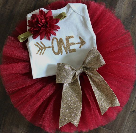 Gorgeous tutu set perfect for a birthday celebration! Made with burgandy glimmer tulle that adds the perfect shimmer. Finished off with a