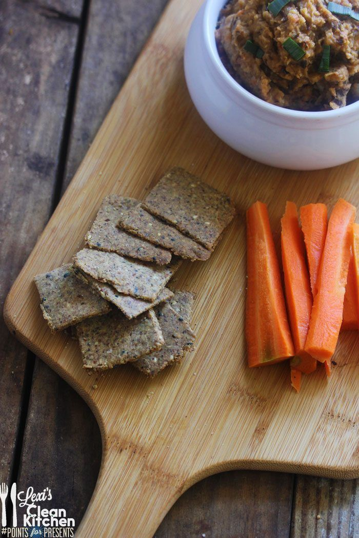 Roasted Eggplant Dip & Homemade Garlic and Herb Crackers