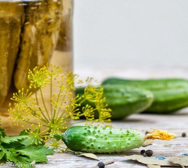 Castraveti murati in otet diluat / Pickles in diluted vinegar