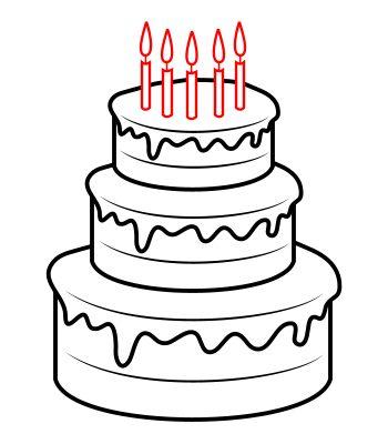 Draw Birthday Cake Birthday Pinterest Birthday Cakes
