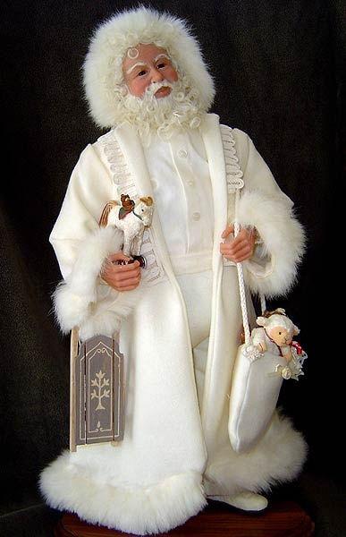 santa claus artist betty lou byrnes one of a kind santa is 21 - White Santa Claus