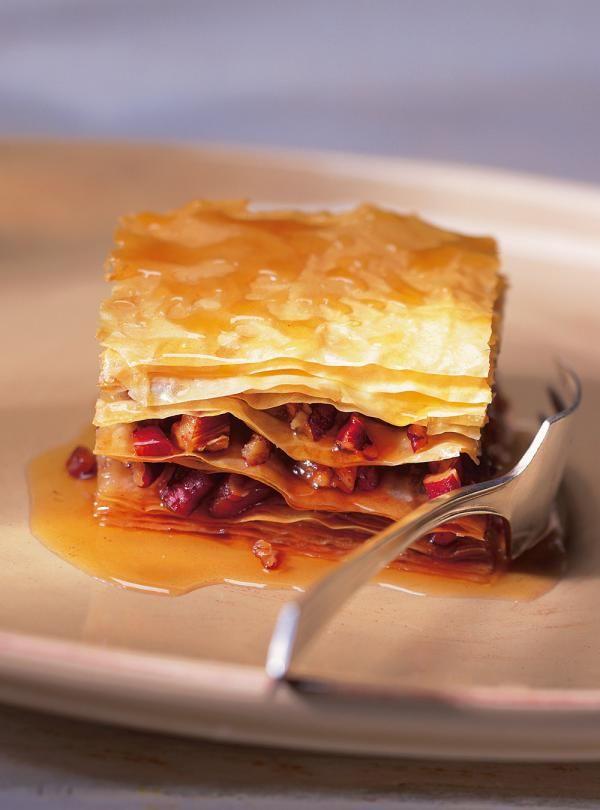 Recette de Ricardo de baklavas à l'érable et aux pacanes. Ces baklavas feront à l'érable et aux pacanes feront un très bon dessert pour les grandes occasions.