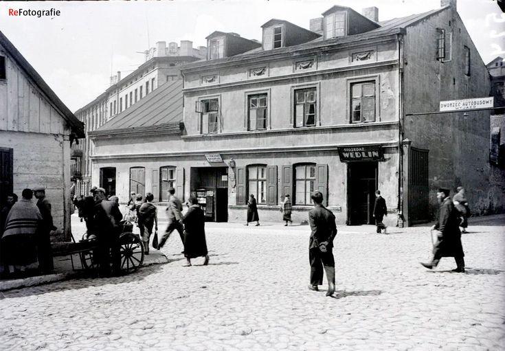 Łódź - ul. Lutomierska 15, widok od Stodolnianej (lata 30. XX w.)