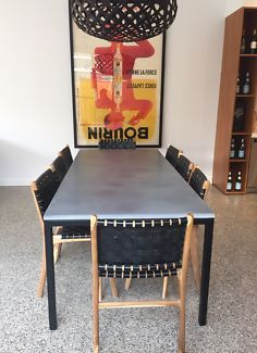 CONCRETE DINING TABLE BESPOKE MODERN BASE | Dining Tables | Gumtree Australia Bayside Area - Sandringham | 1114001607