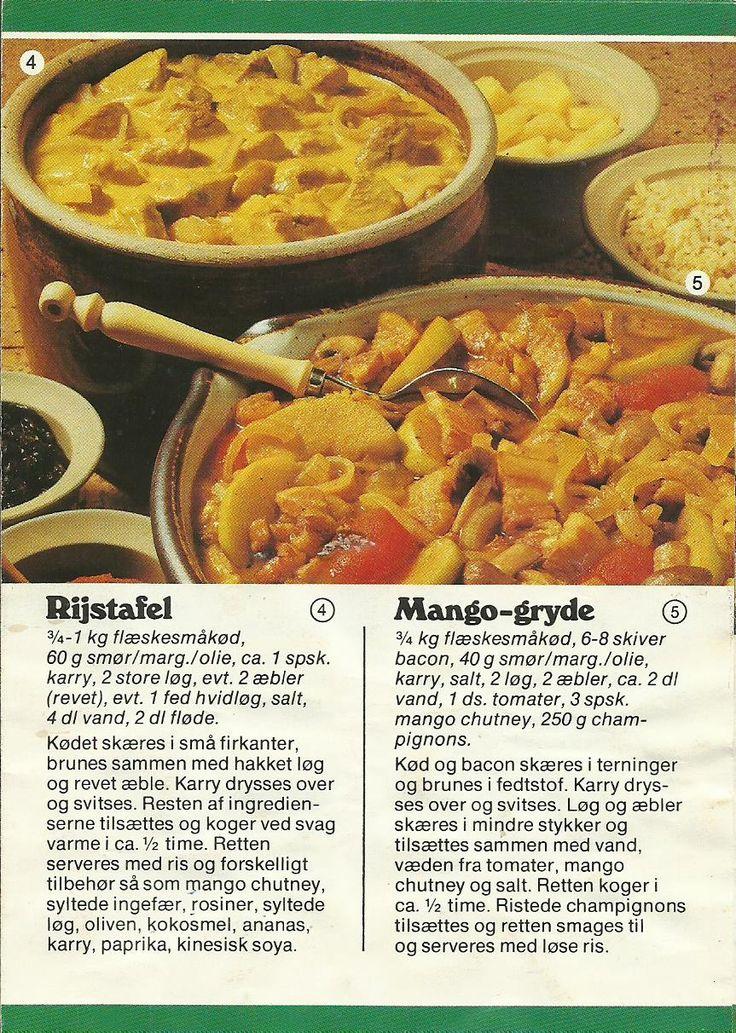 Rijstafel og Mango-gryde.