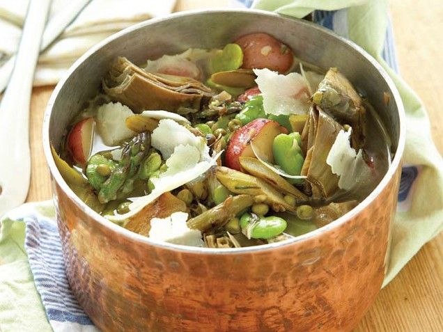 delicate and hearty Spring Vegetable Stew: lemons, fava beans ...