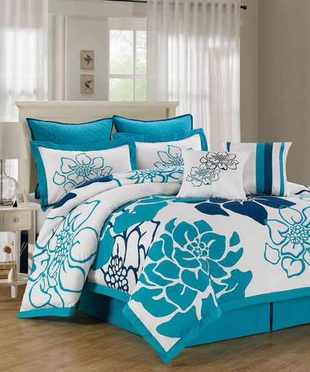 Blue Whitfield Overfilled Comforter Set