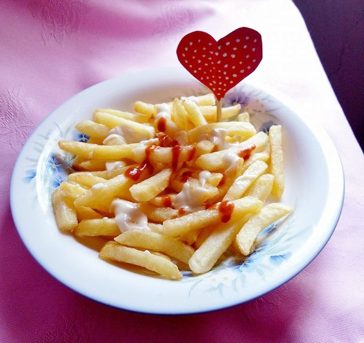 Chips (decoration idea for valentine's day)