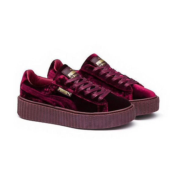 Puma PUMA BY RIHANNA MEN'S VELVET CREEPER (£120) ❤ liked on Polyvore featuring men's fashion, men's shoes, mens creeper shoes, mens shoes, mens velvet shoes, mens lace up shoes and mens platform shoes