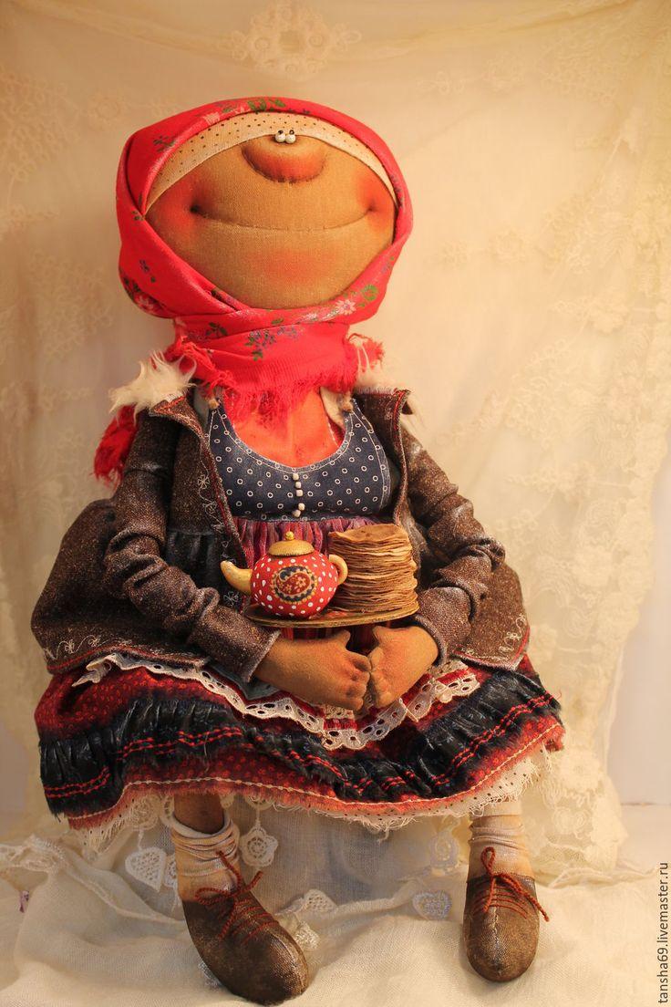 Купить Эх,Масленица! - комбинированный, текстильная кукла, ароматизированная кукла, интерьерная кукла, деревенский стиль