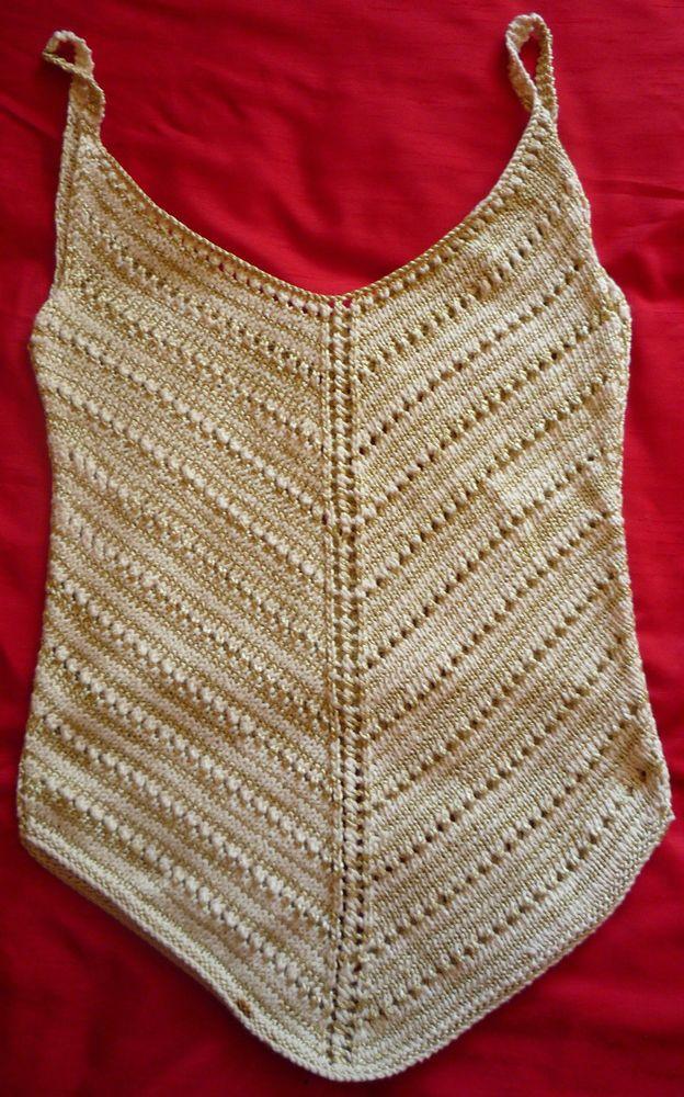 Ladies Hand-knitted DK Summer Vest