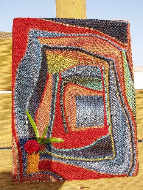 I'm amazed at this knitting technique! - Strickrausch in engl. (Log cabin mit verkürzten Reihen)