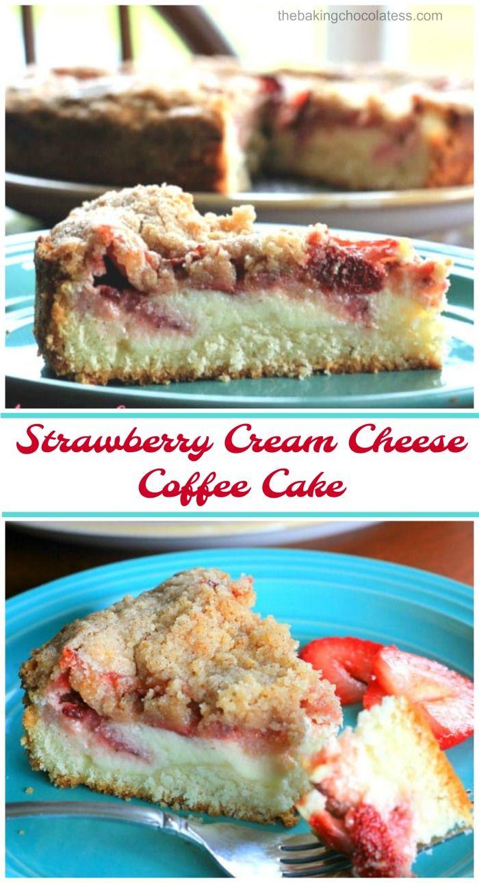 Strawberry Cream Cheese Coffee Cake -Wonderful whi…
