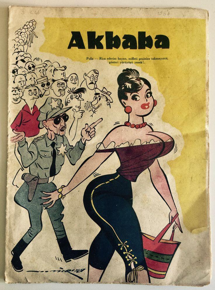 Akbaba Dergisi'nin 12 Temmuz 1956 tarihli sayısından
