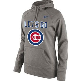 Get this Chicago Cubs Ladies Let's Go Performance Hooded Sweatshirt at WrigleyvilleSports.com