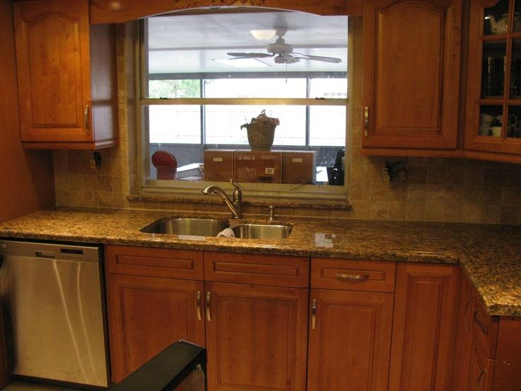 Kitchen Countertops And Backsplashes  Kitchen With Granite Classy Kitchen Sink Backsplash Design Ideas