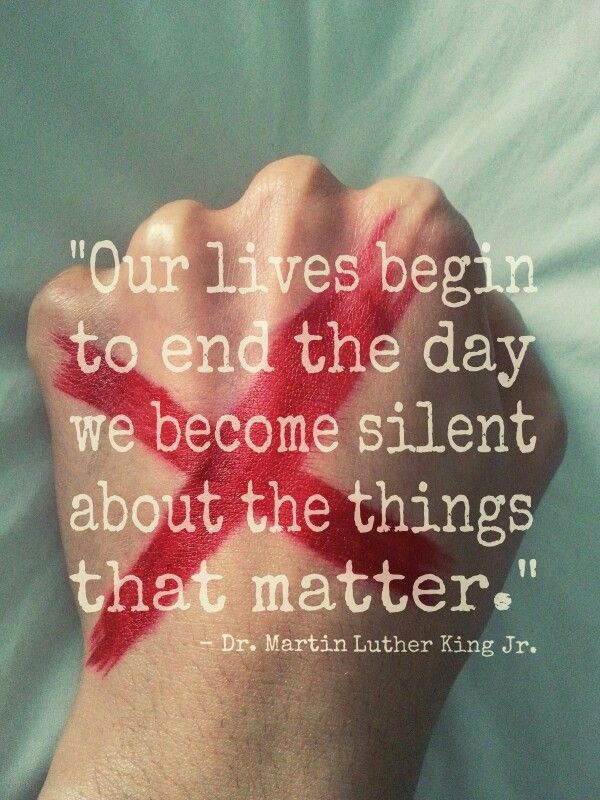 End It Movement - Red X - stop human trafficking - modern day slavery awareness - Dr Martin Luther King Jr quote https://www.instagram.com/p/BCOeKhfwfqb/
