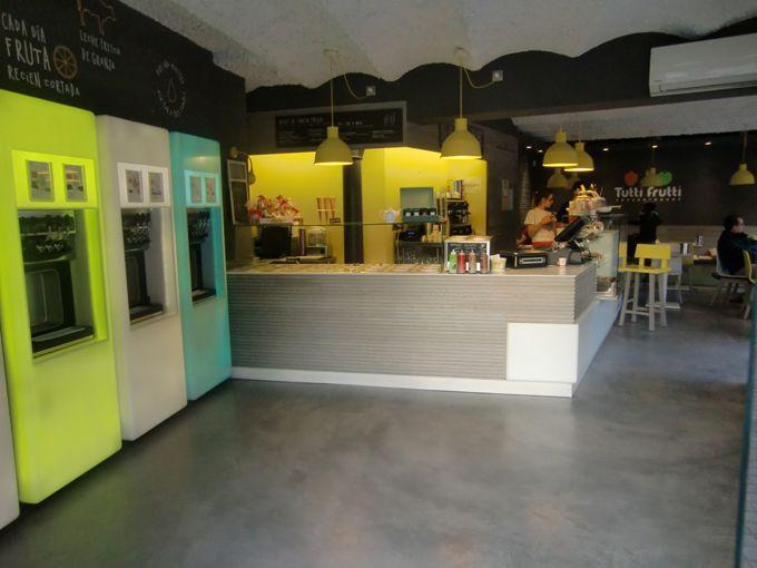 Projects PORCELANOSA Grupo : Tutti Frutti Frozen Yogurt (Barcelone)