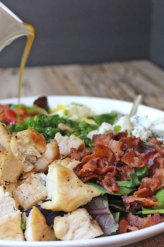 Cosi Cobb Salad with Sherry Shallot Vinaigrette (Copycat ...