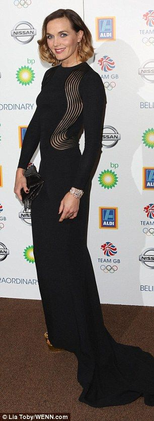 Chic Victoria Pendleton oozes glamour at Team GB's Olympic Ball