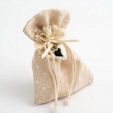 Jutesäckchen, perfekt für Hochzeitsmandeln o.ä.