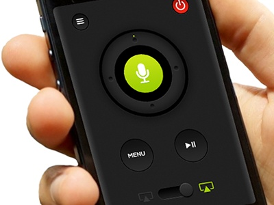 The tv remote control for siri - Mobile app interface UI UX