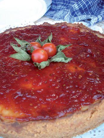 Tarta Queso con Tomate