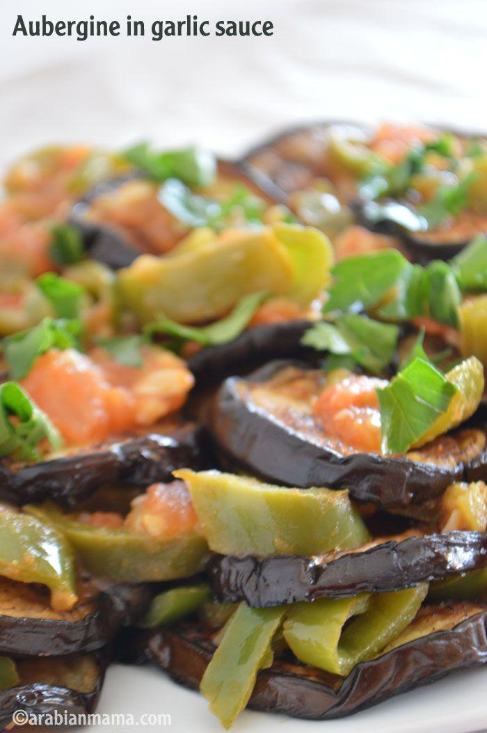 Aubergine in garlic sauce – Arabianmama.com