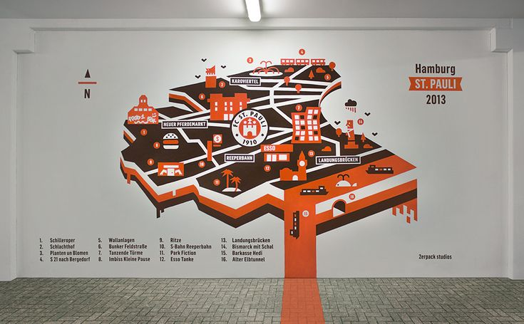 Millerntor Gallery 2013 - plattegrond Pinned by : Idea Concept Design.nl