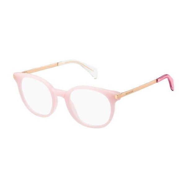 Tommy Hilfiger TH 1380 QEE Eyeglasses (€105) ❤ liked on Polyvore featuring accessories, eyewear, eyeglasses, pink eyeglasses, tommy hilfiger glasses, tommy hilfiger, tommy hilfiger eyeglasses and tommy hilfiger eyewear