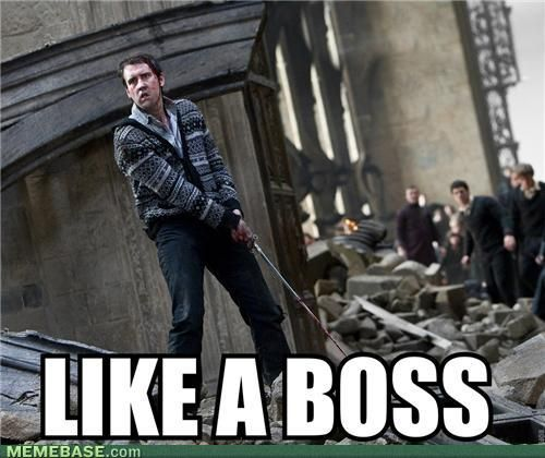Neville Longbottom... like a boss.