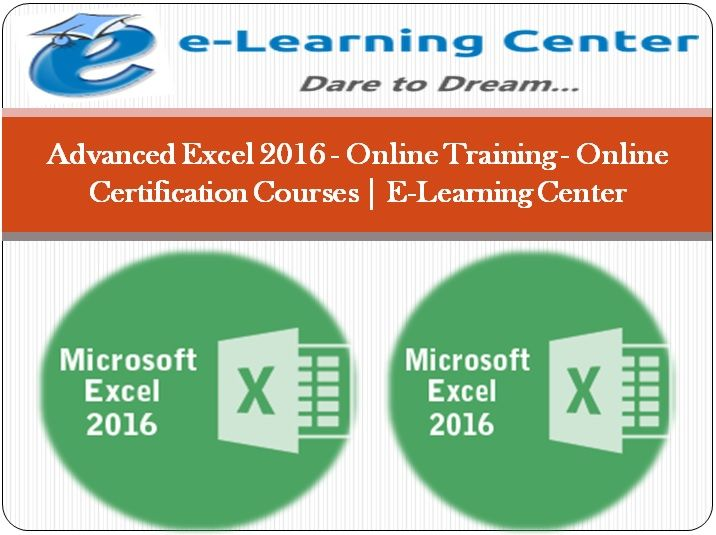 14 Best Advanced Excel 2016 Online Training Images On Pinterest