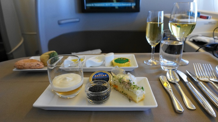 japan airlines first class appetizer caviar first class all the way baby pinterest first. Black Bedroom Furniture Sets. Home Design Ideas