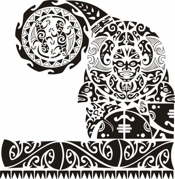 48 diseños más frescos de la Polinesia tatuaje