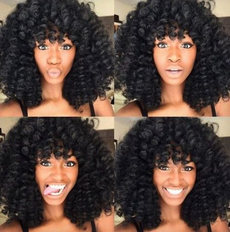 Curly Crochet Braids with Bangs