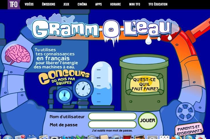 Gramm-O-L'eau : réviser la grammaire française en s'amusant