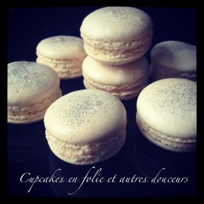 Macarons chocolat blanc praliné