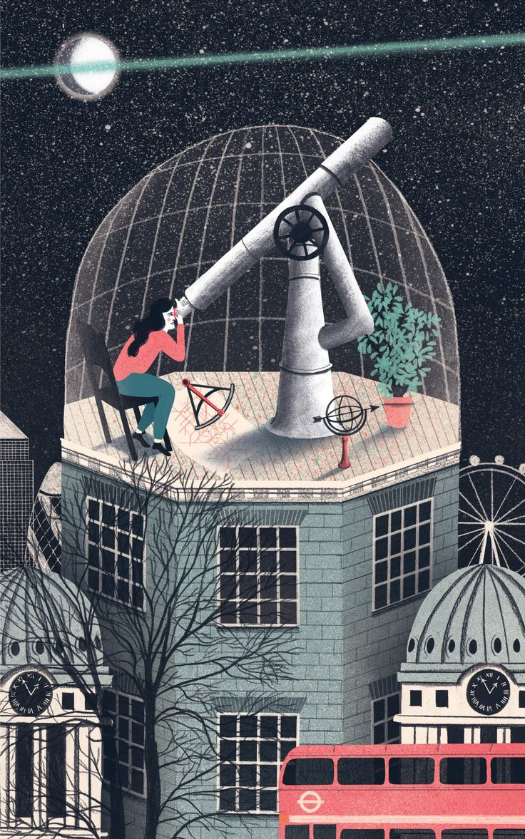 My submission for the Prize for Illustration 2015 prize: Greenwich Observatory by Eleanor Taylor
