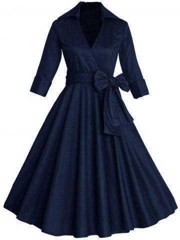GET $50 NOW | Join RoseGal: Get YOUR $50 NOW!http://m.rosegal.com/vintage-dresses/vintage-surplice-belted-high-waist-826582.html?seid=963503rg826582