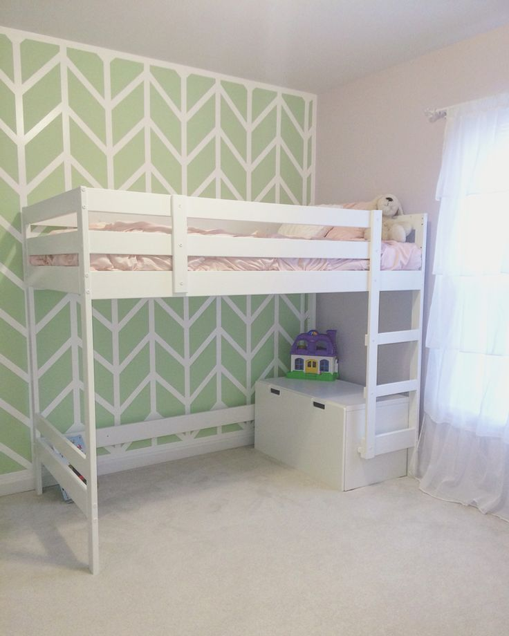 ikea mydal loft bed hack for little girls room just change the colors