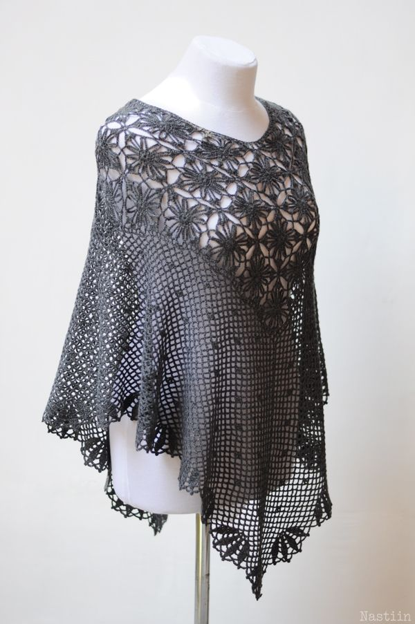 Brand new poncho. Not yet in the shop. crochet clothing by Nastiin