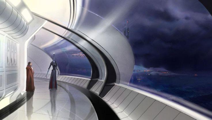 kamino in star wars - futuristic feel