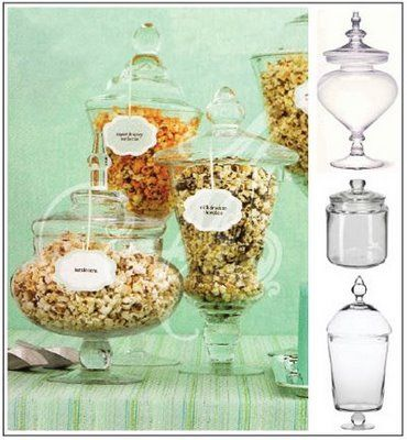 """about to pop""  baby shower popcorn bar...this would be wonderful"
