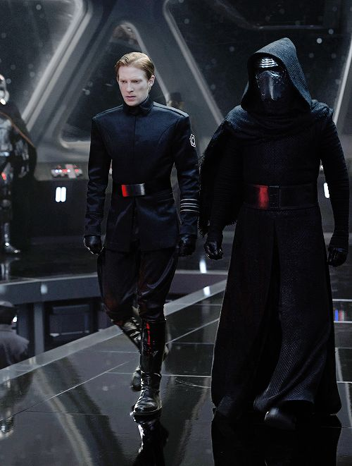 "brockrumiow: "" Domhnall Gleeson as General Hux and Adam Driver as Kylo Ren in Star Wars: The Force Awakens (2015) """