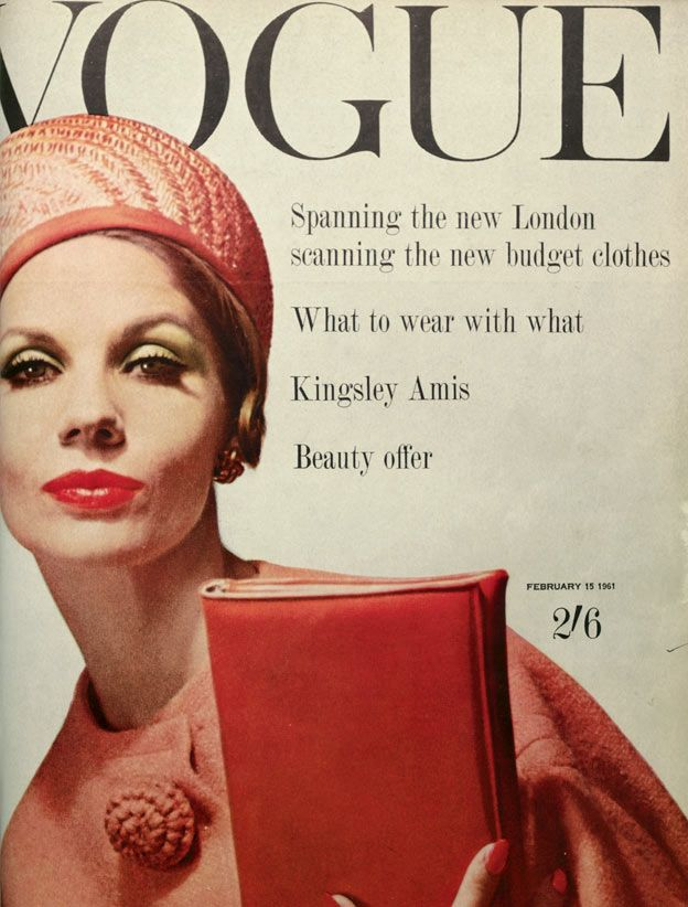 February 1961: Magazine Covers, Vintage Magazine, David Bailey, Vogue Magazine, Vogue February, Vintage Vogue, Vogue Covers, 1960
