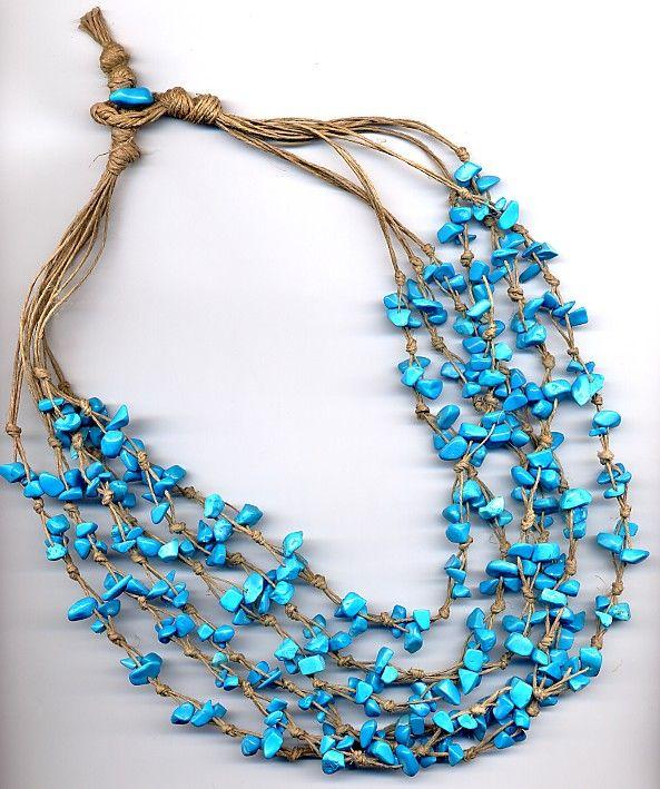 Bijoux e accessori: Turchese knot necklace (No tute)