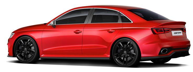 Audi RS3 Sedan with Atom Glossy Black professional alloy wheels GMP Italia made in Italy / Audi RS3 Sedan con cerchi in lega Atom Nero Lucido GMP Italia made in Italy