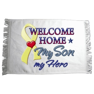 Welcome Home Son Hero Sports Spirit Rally Towel
