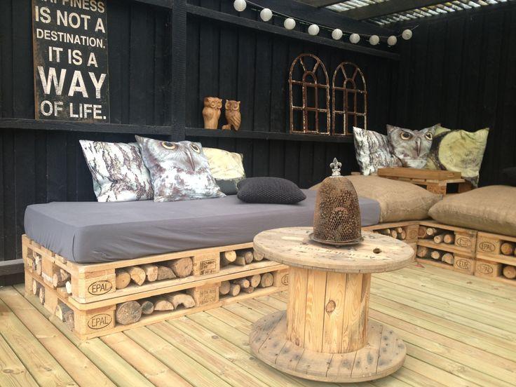 DIY - pallemøbler med brænde. Læs mere på http://norubbish.dk/2013/07/diy/