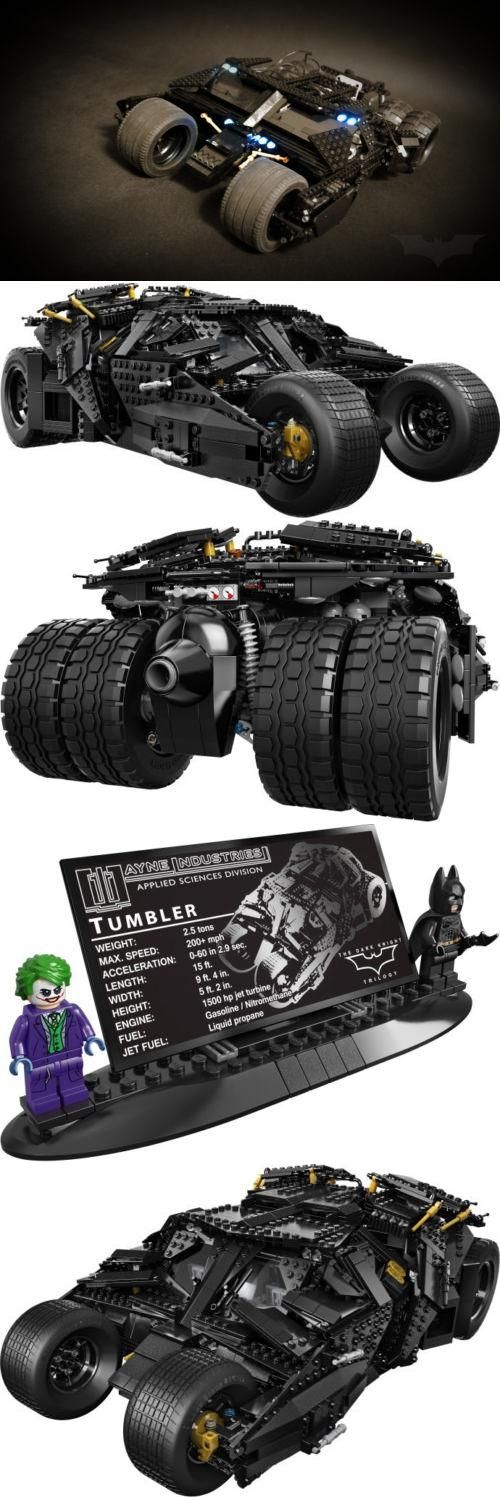 The newest edition to the LEGO DC Universe, the Batman Tumbler from The Dark Knight Trilogy. Over 1,800 pieces of black armored mystery to build.